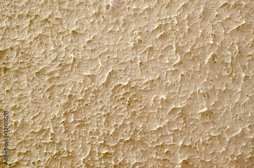 Close-up surface of stucco alabaster plaster of yellowish-gray color Canvas Print