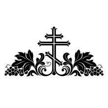 Black Orthodox Crucifix Decora...