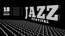 Jazz Music Festival. Concert Hall. 3d Illustration.