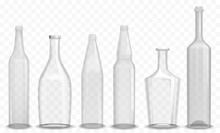Realistic Glass Empty Bottle I...