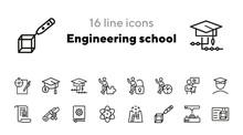 Engineering School Line Icon S...