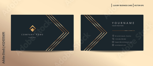 Fotografía Luxury design business card with gold style minimalist template