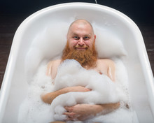 Portrait Of A Bald Man Fooling...