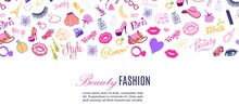 Beauty Shop And Fashion Vector...