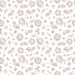 Vintage floral background. Flowers, leaves, seeds, buds, sprigs - Vector Seamless Pattern