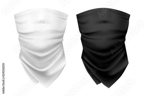 Fotografía Blank wear for neck or set of realistic shawl