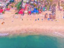 Aerial View Of The Baga Beach,...