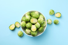 Bowl With Brussels Sprout On B...