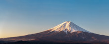 Japanese Fuji Mountain On Blue...
