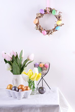 Easter Table Setting With Tuli...