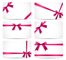 Gift Card With Pink Ribbon And...