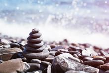Stone Pebble Tower Balancing O...