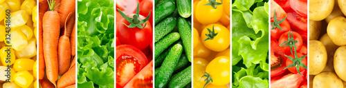Fototapeta Background of vegetables. Fresh food obraz