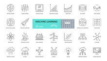 Set Of Machine Learning Icons....