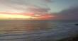 California Coast Sunset Aerial