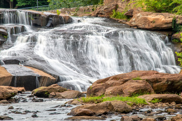 FototapetaWaterfall in downtown Greenville South Carolina