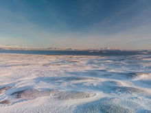 Winter Landscape With Blue Sky In Iceland