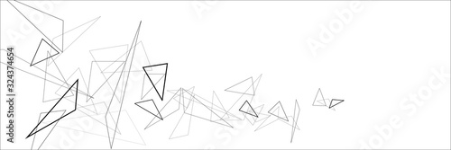 obraz dibond Abstract triangular background.