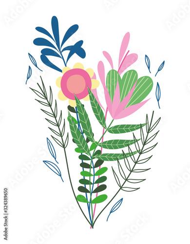 Obraz bunch of flowers branches vegetation nature wild botany - fototapety do salonu