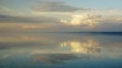 Beatiful sky and clouds timelapse over Khuvsgul lake in Mongolia