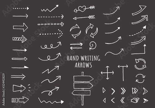 Photo 手描きの矢印セット