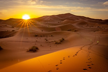 Sunrise In Sahara Desert, Moro...
