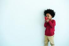 African-American Little Boy Ha...