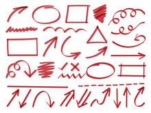 Arrows Hand Drawn Doodle Vecto...