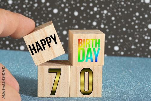 Papel de parede Glückwunsch zum 70 Geburtstag