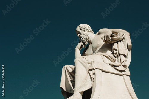 Obraz Statue of the ancient Greek philosopher Socrates in Athens, Greece.	 - fototapety do salonu