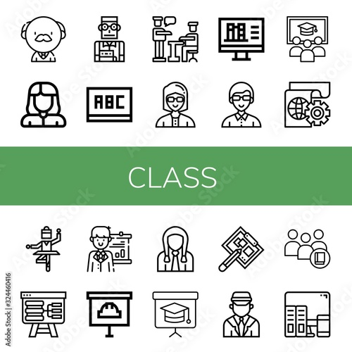 Fototapety, obrazy: class simple icons set