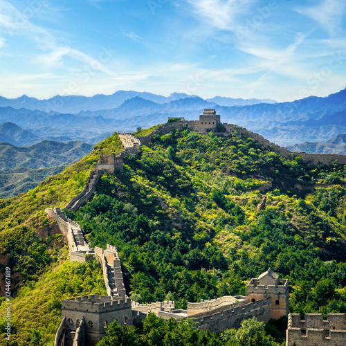 Fotografie, Obraz Great Wall of China in summer day