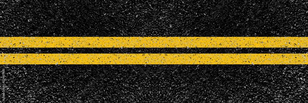 Fototapeta yellow lines on the road