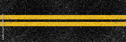 Fototapeta yellow lines on the road obraz