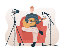 Man Singing And Playing Acoust...