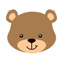 Face Of Cute Teddy Bear Isolated Icon Vector Illustration Design