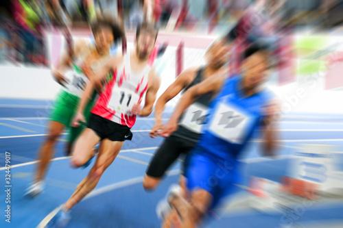 Photo coureur sportif compétition courir olympique jo