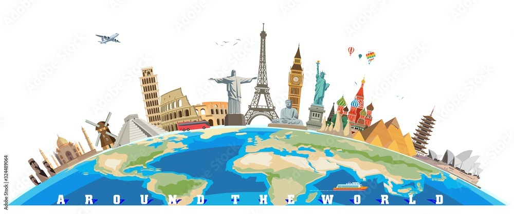 Fototapeta world culture tourism travel historical monuments