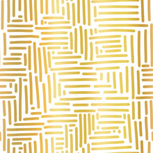 Gold Foil Metallic Abstract Se...
