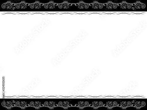 Cuadros en Lienzo Monochrome horizontal floral postcard