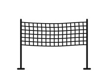 Volleyball. Volleyball Net Web Icon On White Background