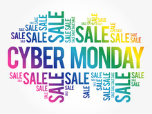 Cyber Monday Word Cloud Collag...