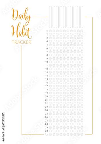 Fotografia Daily habit tracker template
