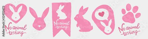 Cuadros en Lienzo Against animal testing stickers