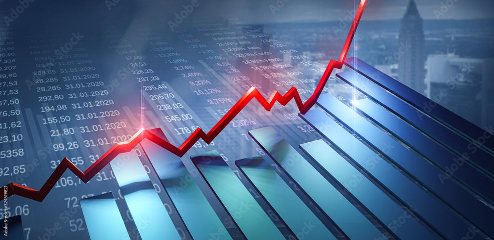 Fototapeta Börse Finanzen Investment