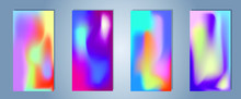 Colorful Vector Blurred Gradient Textures. Background For Social Media Post, Wallpaper, Mobile App, Screen