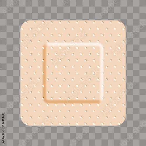 Beige adhesive bandage bandaid square shape Wallpaper Mural