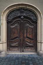 Isolated Old Wooden Door As El...