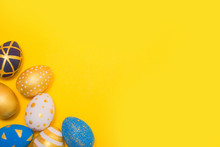 Easter Golden Decorated Eggs O...