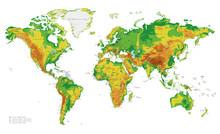 Physical World Map Vector Illu...